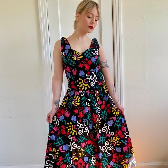 98c433bba8d35 Vintage Dresses | Colorful Abstract Print Maxi Dress | Poshmark